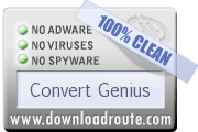 100% CLEAN Award on DownloadRoute.com