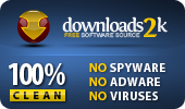 100% Clean Award on Download2K.com