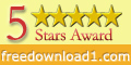 5 Stars Award on FreeDownload1.com