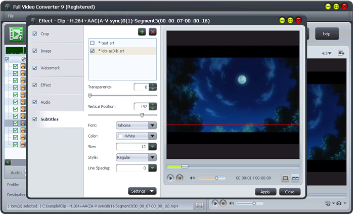 Full Video Converter Free Software Interface